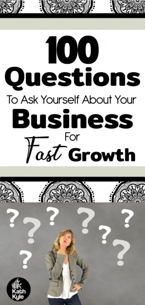 100 Questions To Ask Yourself About Your Business For Fast Growth
