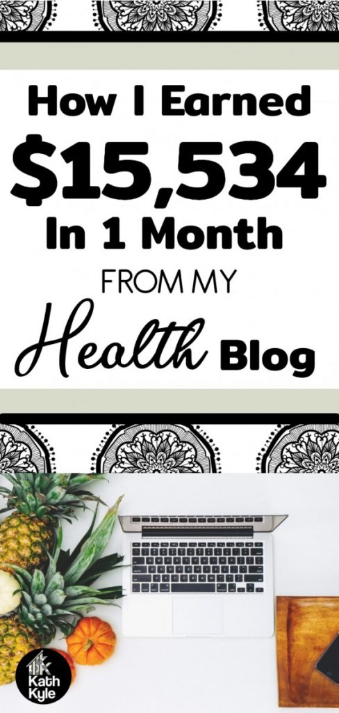 Health Blog Income Report: How I Earned $15,534 In One Month