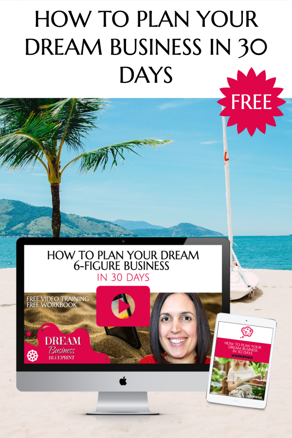How to plan your dream business Mockup Vertical