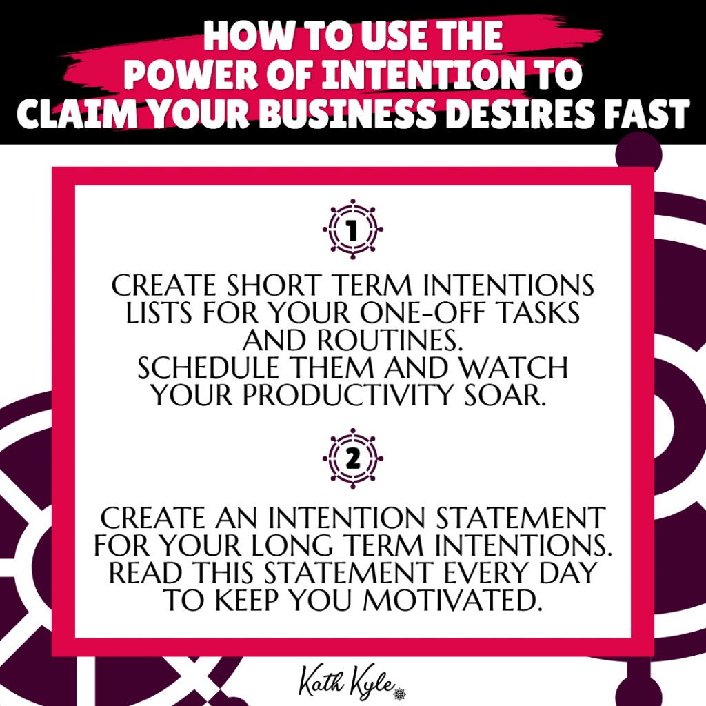 How To Use The Power Of Intention To Claim Your Desires FAST