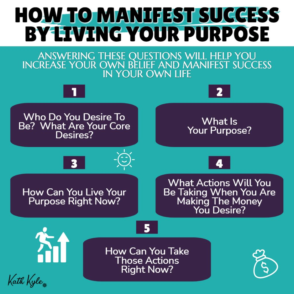 How To Manifest Success By Living Your Purpose & Receiving Your Desires