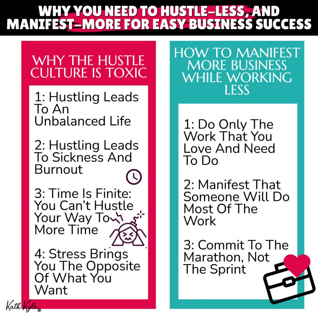 Why You Need To Hustle-Less, And Manifest-More For EASY Business Success