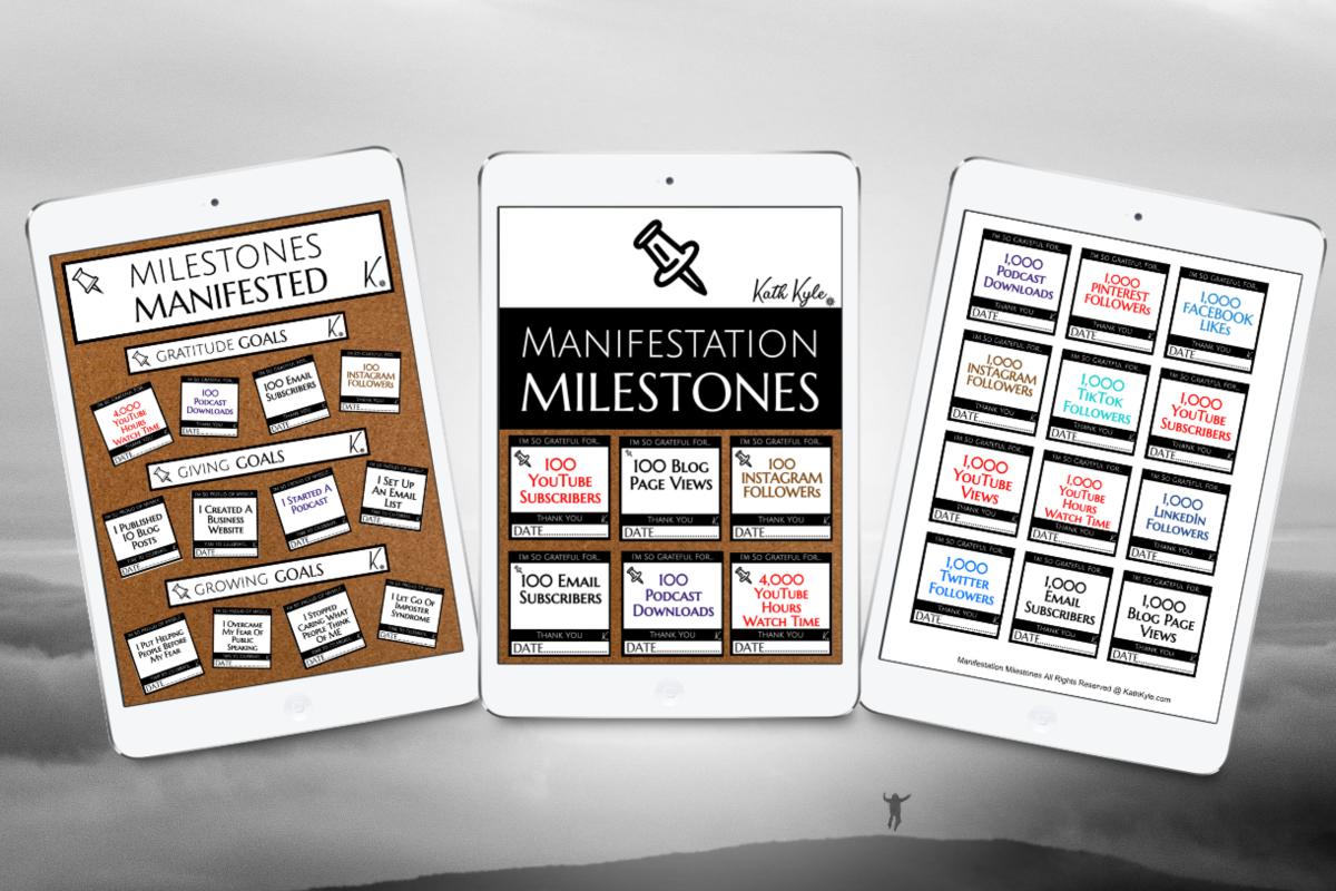 Manifestation Milestones Horizontal bw Mockup