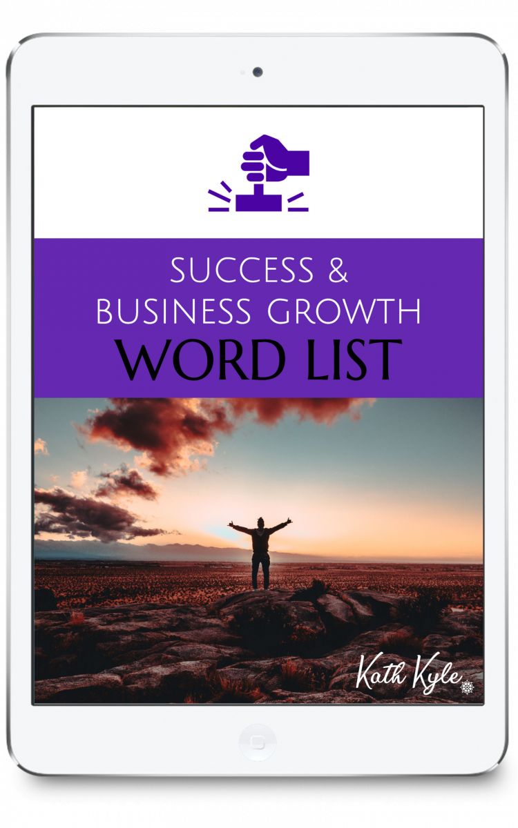 Success And Business Growth Word List