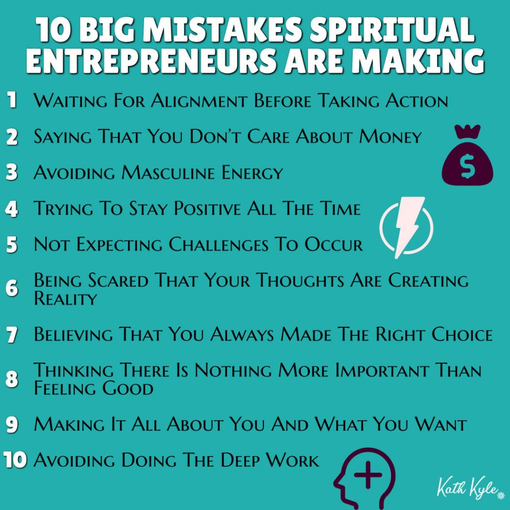 10 BIG Mistakes Spiritual Entrepreneurs Are Making