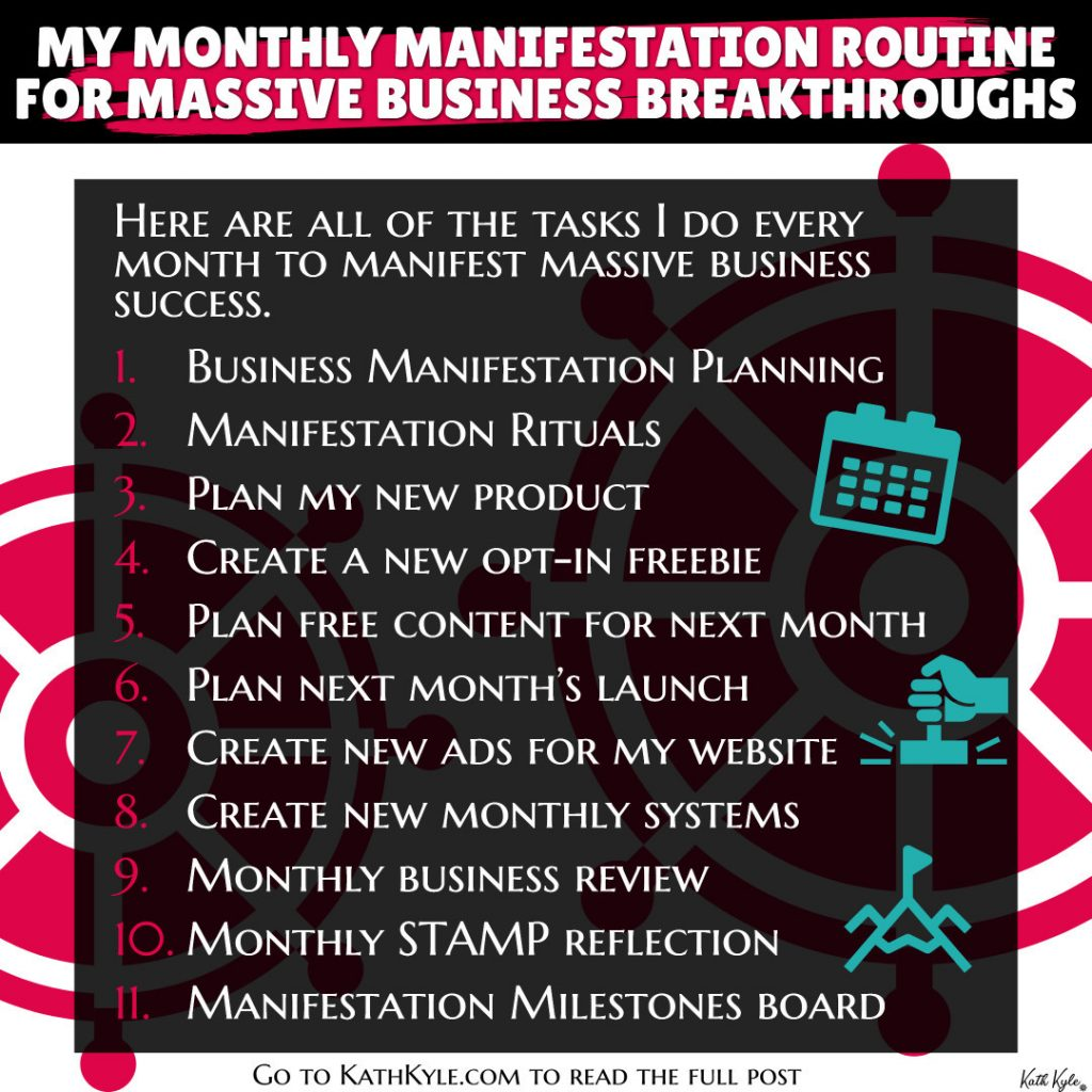 My Monthly Manifestation Routine For Massive Business Breakthroughs