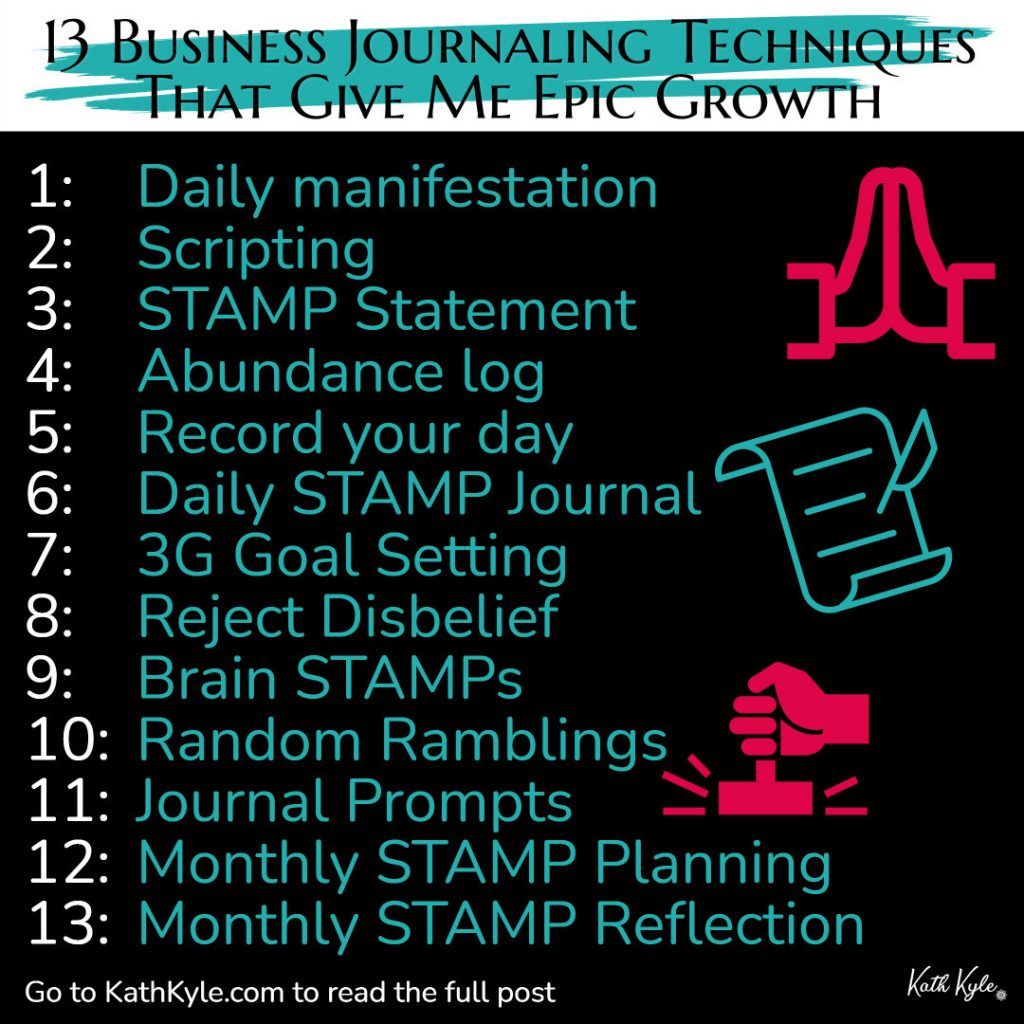 13 Business Journaling Techniques That Give Me Epic Growth