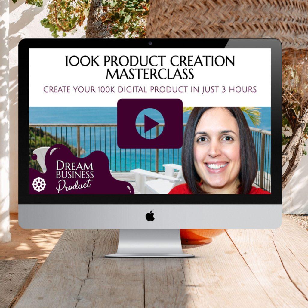 100K PRODUCT CREATION MASTERCLASS